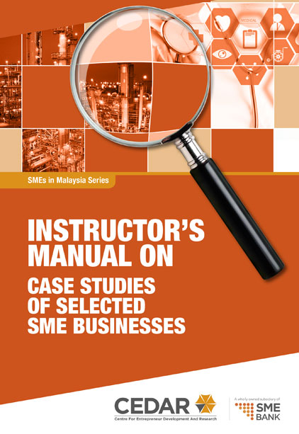 INSTRUCTOR`S MANUAL ON CASE STUDIES OF SELECTED SME BUSINESSES